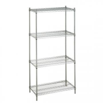 6 Tire Medical Rolling Wire Storage Racks Stainless Steel Silver Shelving
