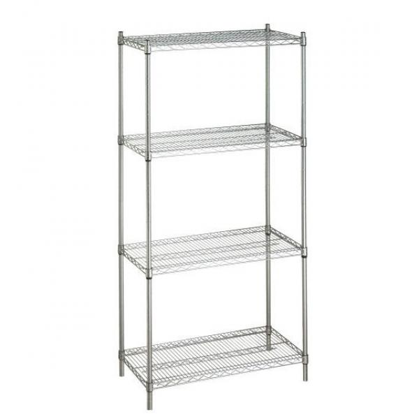 Chrome Carbon Steel / Stainless Wire Mesh Shelving Manufacturer